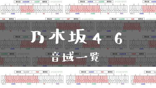 乃木坂46歌手音域一覧トップ