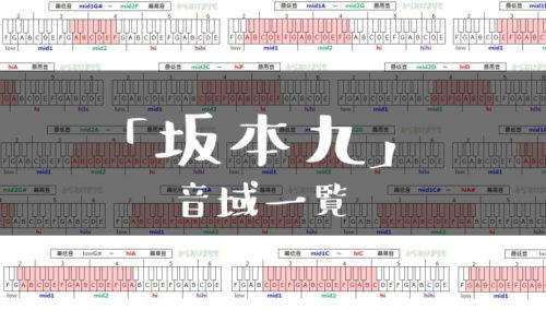坂本九歌手音域一覧トップ