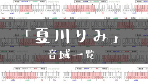 夏川りみ歌手音域一覧トップ