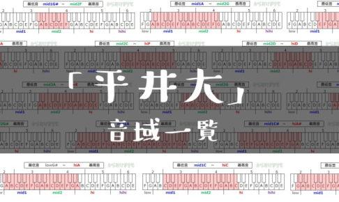 平井大歌手音域一覧トップ