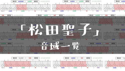 松田聖子歌手音域一覧トップ