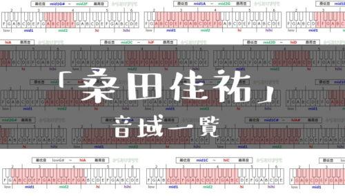 桑田佳祐歌手音域一覧トップ