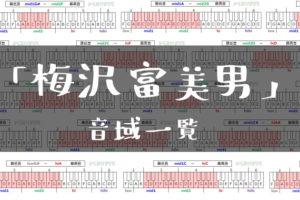 梅沢富美男音域一覧トップ