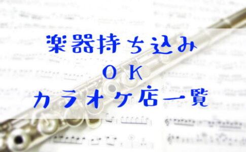 楽器持ち込みOKのカラオケ店一覧