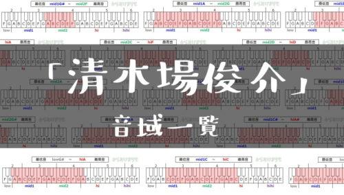 清木場俊介歌手音域一覧トップ