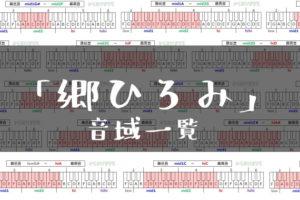 郷ひろみ歌手音域一覧トップ