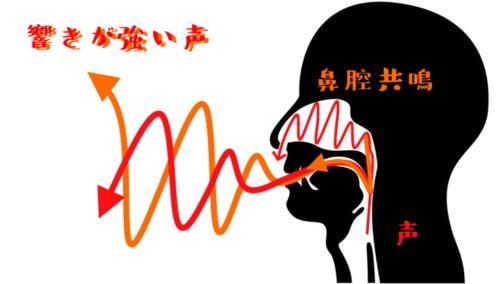 鼻腔共鳴した声イメージ