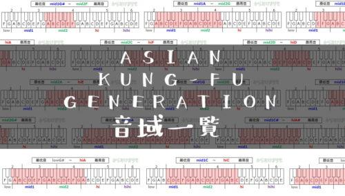 ASIAN KUNG-FU GENERATION音域一覧トップ