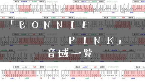 BONNIE PINK歌手音域一覧トップ