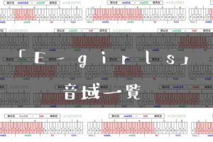 E-girls音域一覧トップ
