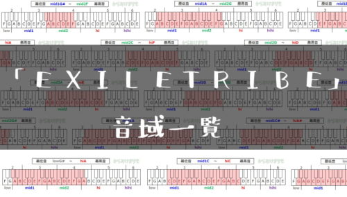 EXILE TRIBE音域一覧トップ