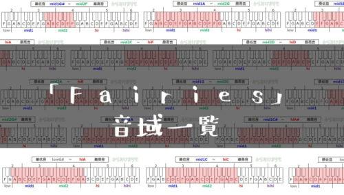 Fairies歌手音域一覧トップ