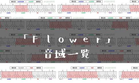 Flower歌手音域一覧トップ