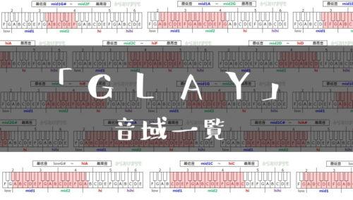 GLAY歌手音域一覧トップ