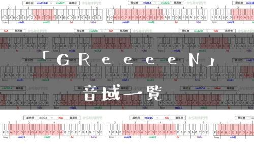 GReeeeN歌手音域一覧トップ