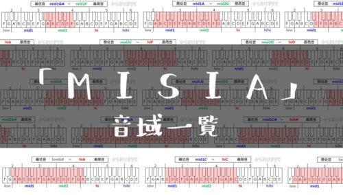 MISIA歌手音域一覧トップ