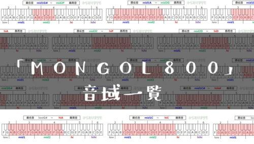 MONGOL800歌手音域一覧トップ