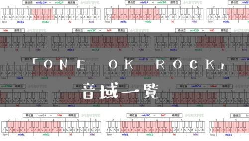 ONE OK ROCK歌手音域一覧トップ