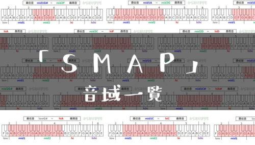 SMAP歌手音域一覧トップ
