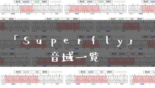 Superfly歌手音域一覧トップ