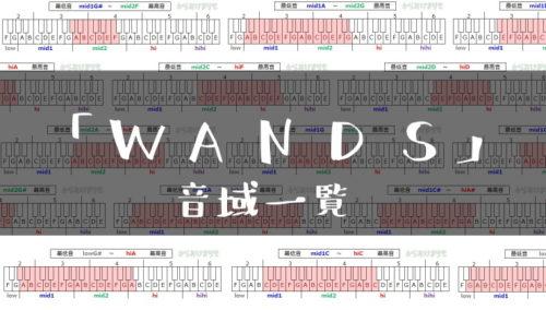 WANDS歌手音域一覧トップ