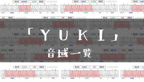 YUKI歌手音域一覧トップ